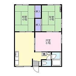 ハイツイーストB 202号室[2階]の間取り
