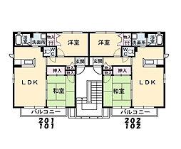 シャーメゾンコンファーレ C棟[101号室]の間取り