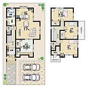 駐車2台可能・収納豊富