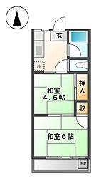 東京都武蔵野市関前5丁目の賃貸アパートの間取り