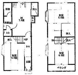 [一戸建] 大阪府枚方市宮之阪4丁目 の賃貸【/】の間取り