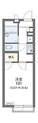 北大阪急行電鉄 桃山台駅 徒歩15分の賃貸アパート 1階1Kの間取り