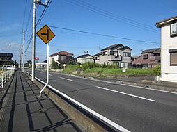 分譲地入口道路