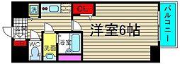 ファステート大阪ドームシティ[2階]の間取り