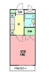 パレス小澤弐番館[202号室]の間取り