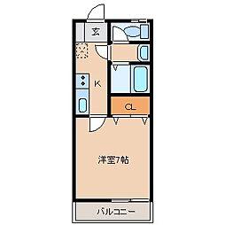 シャン・カマラードD棟[2階]の間取り