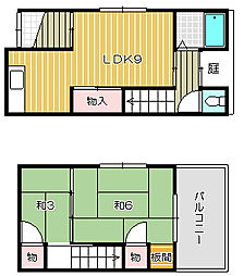 [一戸建] 大阪府茨木市大住町 の賃貸【/】の間取り