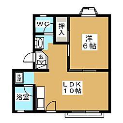 コーポラス東仙台[3階]の間取り