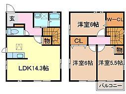 [一戸建] 静岡県富士市松岡 の賃貸【/】の間取り