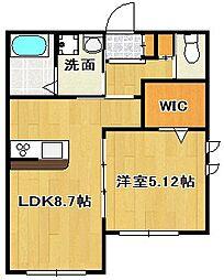 ハウスM・Y・K[1階]の間取り