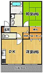 兵庫県神戸市須磨区須磨浦通6丁目の賃貸マンションの間取り