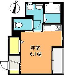 埼玉県さいたま市浦和区東岸町の賃貸アパートの間取り
