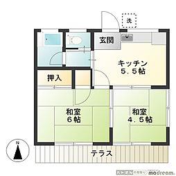 第二武田荘[1階]の間取り