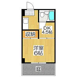 コーポ神山[101号室]の間取り