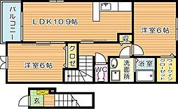 ロワンテールIII[2階]の間取り