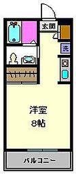 ヴィバーチェ千住[2階]の間取り