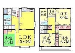 [一戸建] 兵庫県神戸市灘区上野通8丁目 の賃貸【/】の間取り