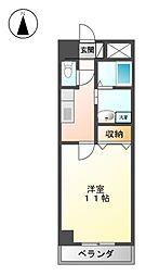 コ−トモ−リス新道[8階]の間取り