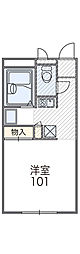 レオパレスROYALCORT[2階]の間取り