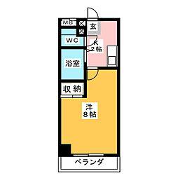 スカイブルーム[2階]の間取り