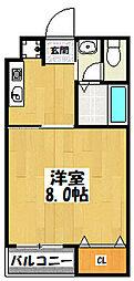大阪府大阪市鶴見区放出東3丁目の賃貸マンションの間取り