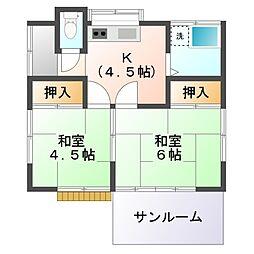 [一戸建] 東京都小平市学園西町3丁目 の賃貸【/】の間取り