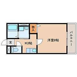 静岡県焼津市大栄町3丁目の賃貸アパートの間取り