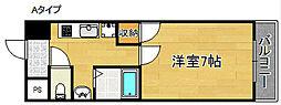 ジュネス住之江[5階]の間取り