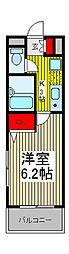 コスモス武蔵浦和[2階]の間取り