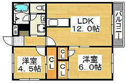 エクシードアキ[2階]の間取り