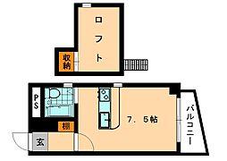 レジデンス平尾[3階]の間取り