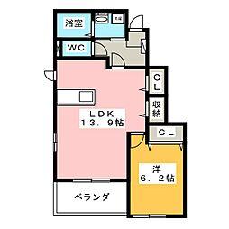 モンテシプレ[1階]の間取り