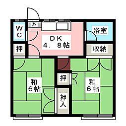 阿部アパート[2階]の間取り