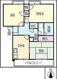 ジュネス新栄[2階]の間取り