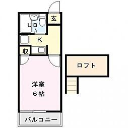 アリス行田1号館[202号室号室]の間取り