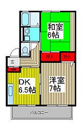 フレンドリー武蔵浦和[202号室]の間取り
