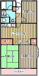 京王小金井マンション[402号室]の間取り