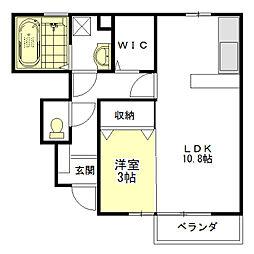 セジュール SG[1階]の間取り