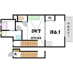 レパード[2階]の間取り