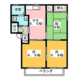 マウンテン B[2階]の間取り