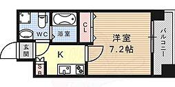 JR東海道・山陽本線 六甲道駅 徒歩10分の賃貸マンション 2階1Kの間取り