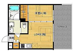 仮)伏見桃山デザイナーズマンション[103号室]の間取り
