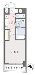 ブラン東光 4階1Kの間取り
