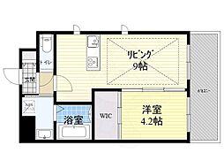Osaka Metro御堂筋線 江坂駅 徒歩3分の賃貸マンション 3階1LDKの間取り