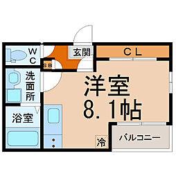 愛知県名古屋市中川区運河通1丁目の賃貸アパートの間取り