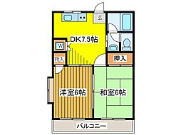 ユニバースゲート[2階]の間取り