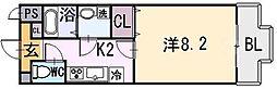 大阪府八尾市光町1丁目の賃貸マンションの間取り