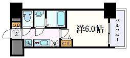 名古屋市営東山線 今池駅 徒歩6分の賃貸マンション 15階1Kの間取り