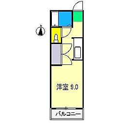 ピーベリーハウス[1階]の間取り