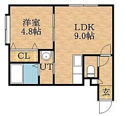 ソティーヌN24[2階]の間取り